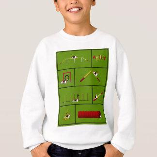 Agility Basset green Sweatshirt