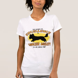 Agility Cavalier Spaniel Secret Ladies T-Shirt