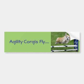 Agility Corgis Fly Bumper Sticker