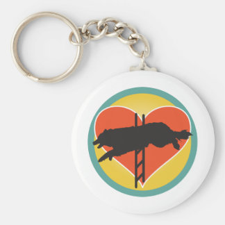 Agility Dog Heart Key Ring