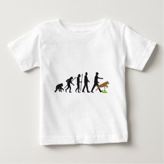 Agility dog sport evolution baby T-Shirt