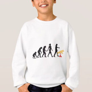 Agility dog sport evolution OF woman Sweatshirt