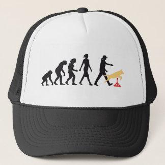 Agility dog sport evolution OF woman Trucker Hat