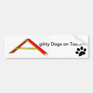 Agility Dogs on Tour Bumper Sticker