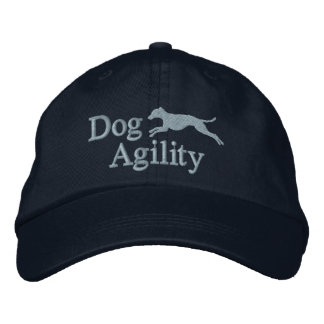 Agility Italian Greyhound Embroidered Hat (Blue)