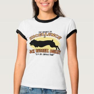 Agility Jack Russell Secret Ladies Ringer T-Shirt