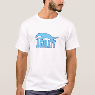 Agility Stylized Design in Blue T-Shirt