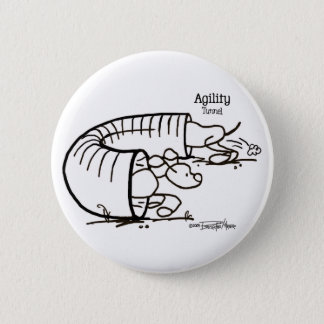 Agility Tunnel - Stick Dog 6 Cm Round Badge