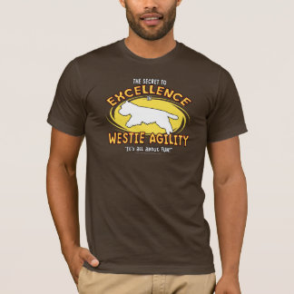 Agility Westie Secret Dark T-Shirt