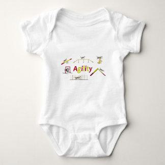 Agility with writing baby bodysuit