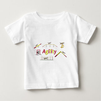 Agility with writing baby T-Shirt