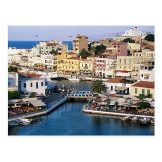 Agios Nikolaos Crete, Greece Postcard