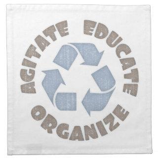 Agitate Educate Organize Napkin