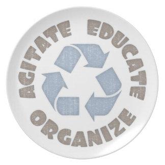 Agitate Educate Organize Plate