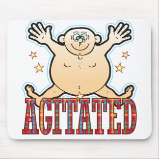 Agitated Fat Man Be Mouse Pad