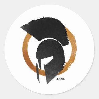 AGNI round sticker