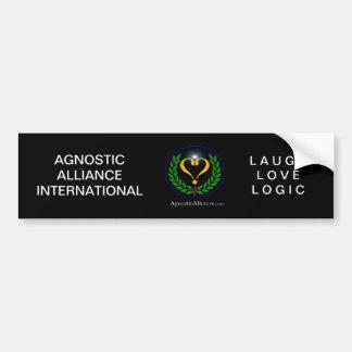 Agnostic Alliance - Bumper Sticker, Black Car Bumper Sticker