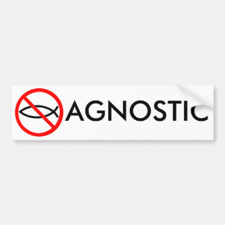 AGNOSTIC BUM[ER STICKER