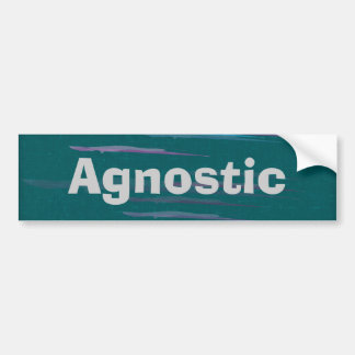 Agnostic Bumpter Sticker Bumper Sticker