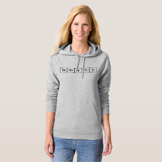 """""""agnostic"""" science lover nerdy periodic table hood hoodie"""