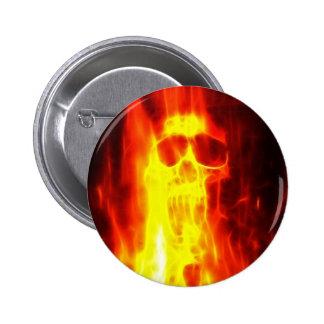 Agony Fiery Skull Pins