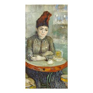 Agostina Segatori in Cafe du Tambourin by Van Gogh Photo Card Template