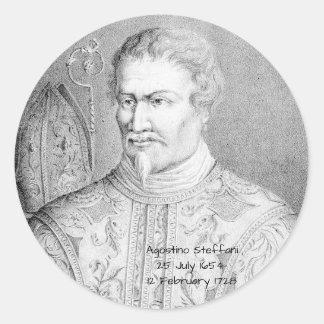 Agostino Steffani Classic Round Sticker
