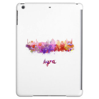 Agra skyline in watercolor
