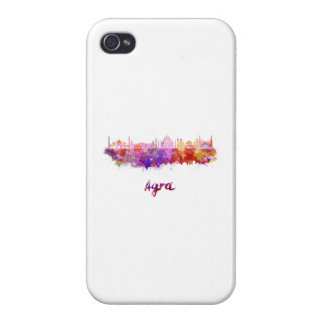 Agra skyline in watercolor iPhone 4/4S case