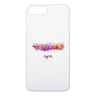 Agra skyline in watercolor iPhone 8 plus/7 plus case