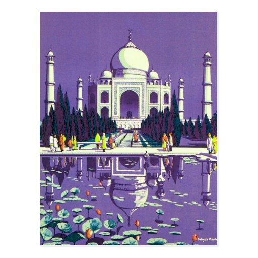Agra ~ Taj Mahal Post Card