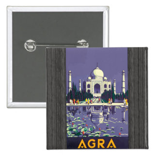 Agra Vintage Pinback Buttons