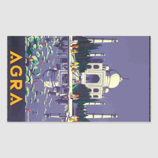 Agra, Vintage Rectangle Stickers