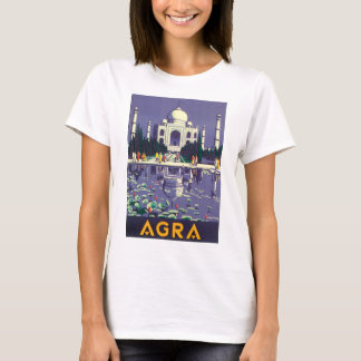 Agra Vintage Travel Poster T-Shirt