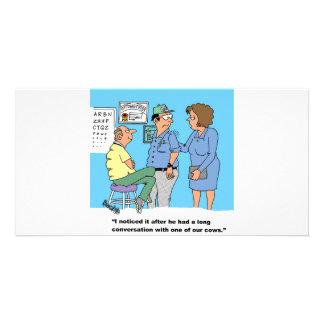 Agricultral Farm Cartoon Giftware Custom Photo Card