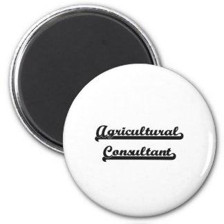 Agricultural Consultant Artistic Job Design 2 Inch Round Magnet