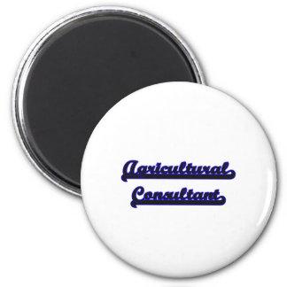 Agricultural Consultant Classic Job Design 6 Cm Round Magnet