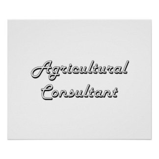 Agricultural Consultant Classic Job Design Poster