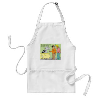 AGRICULTURAL FARMER HUSBAND / WIFE CARTOON HUMOR STANDARD APRON