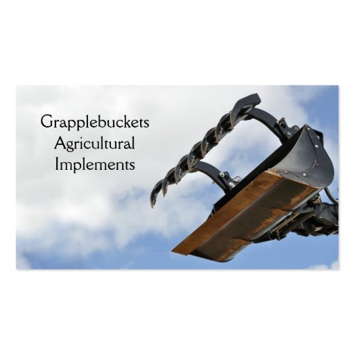 Agricultural implement business card