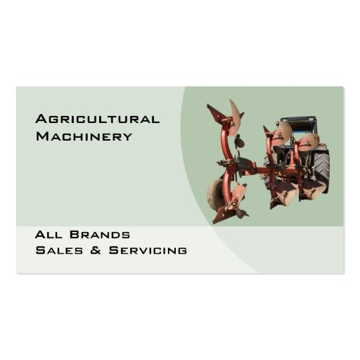 Agricultural machinery business card