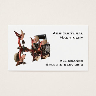 Agricultural machinery tractor and plow
