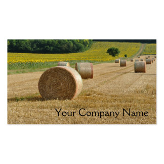Agricultural straw bales in a field pack of standard business cards
