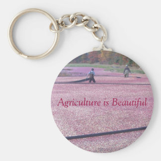 Agriculture is Beautiful - Cranberry Style Basic Round Button Key Ring