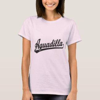 Aguadilla script logo in black T-Shirt
