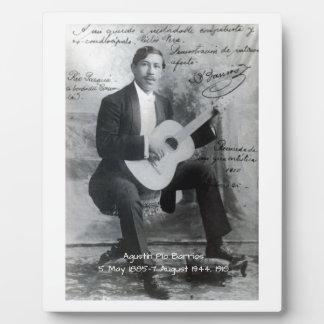 Agustín Pio Barrios, 1910 Plaque