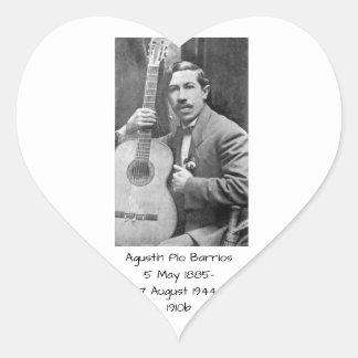 Agustín Pio Barrios 1910b Heart Sticker