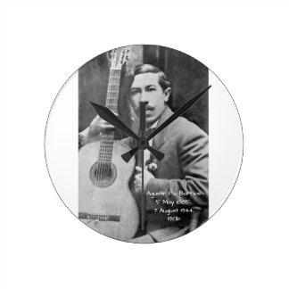 Agustín Pio Barrios 1910b Round Clock