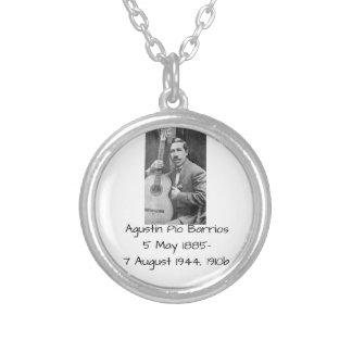 Agustín Pio Barrios 1910b Silver Plated Necklace