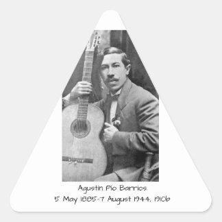 Agustín Pio Barrios 1910b Triangle Sticker